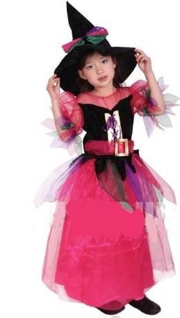 GTH-1416彩虹俏麗巫婆裝化裝舞會表演造型服(S/M/L)