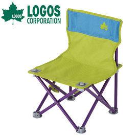 【鄉野情戶外專業】 LOGOS |日本| 雙色野營椅-.童軍椅.導演椅.折疊椅.摺疊椅.折合椅/休閒椅 露營椅-綠/藍 _LG73170012
