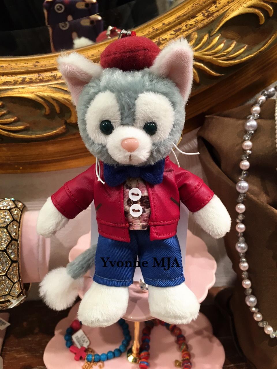 *Yvonne MJA日本代購*東京迪士尼海洋樂園限定正品傑拉東尼畫家貓2016情人節站姿吊飾