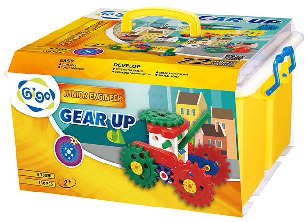 Gigo智高 - 小小工程師系列 - 創意魔法箱 神奇的齒輪 #7333P 贈Gigo瓢蟲禮盒!