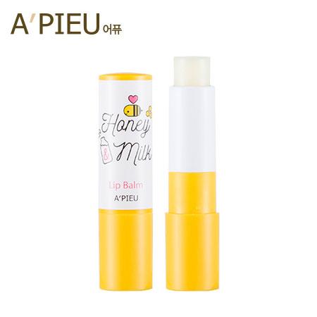 韓國 A'PIEU 蜂蜜牛奶護唇膏 3.3g 潤唇膏 唇部 護唇 A pieu APIEU 奧普【B062292】