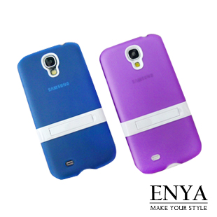 Samsung S4 透明果凍色支架 手機殼 Enya恩雅(郵寄免運)