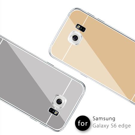 Samsung S6 edge 金屬鏡面質感保護殼 TPU軟殼 保護套 Galaxy 三星【N201145】
