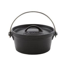 【鄉野情戶外專業】 LOGOS |日本|  豪快魔法調理荷蘭鍋 (8吋) /鑄鐵鍋 可電磁爐加熱/LG81062228
