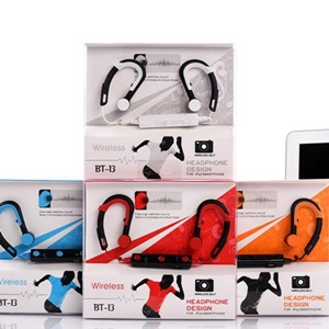 美麗大街【BK1052102722】運動藍牙耳機 掛耳式無線藍牙耳機4.1 可拍照帶自拍