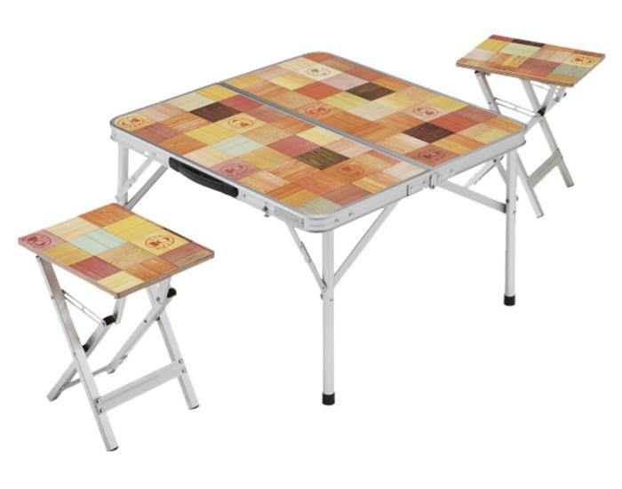 【鄉野情戶外專業】 Coleman |美國| 自然風野餐桌椅組/2人低高度桌凳組/CM-7002JM000