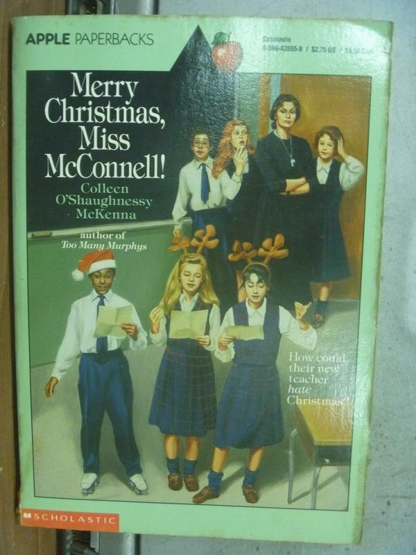 【書寶二手書T5/原文小說_MNC】Merry Christmas, Miss McConnell