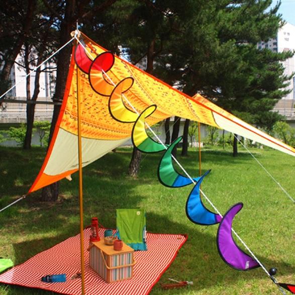 【露營趣】中和 TNR-151 七彩風條 裝飾 戶外 露營 帳篷飾品