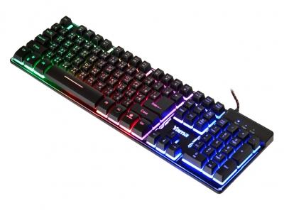 【迪特軍3C】YAMA 雷神之錘 機械式手感懸浮式LED鍵盤