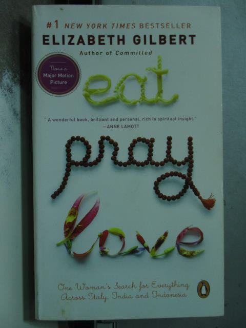 【書寶二手書T9/原文小說_OBA】Eat, Pray, Love_ELIZABETH