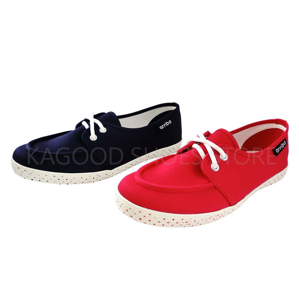 Arriba AB-8005  休閒鞋 帆布鞋  紅色款 / 藍色款 女鞋