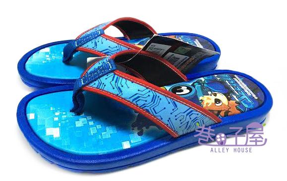 【巷子屋】塞爾號 童款造型拖鞋 人字拖 夾腳拖 藍 MIT台灣製造 超值價$100
