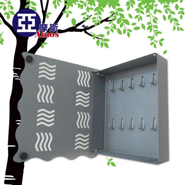 (特賣) 壁掛式工業風鐵板鑰匙盒 磨砂處理防刮 家居鑰匙掛鉤收納盒 掛勾 磁鐵閉合MIT Amos【ZAW005】