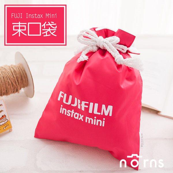 NORNS 【桃紅色Fujifilm束口袋】富士Mini 7S 8 25 50s拍立得相機保護袋相機包束口袋