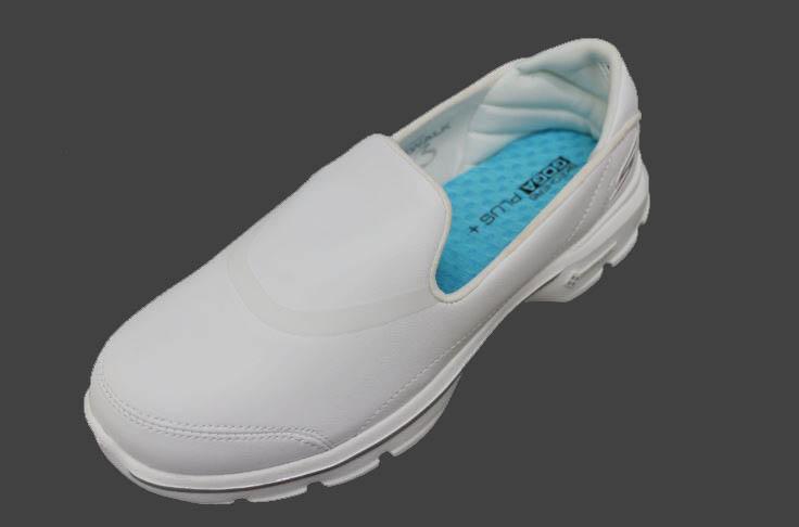 [陽光樂活]SKECHERS (女) 健走系列 GO Walk 3 全白 皮革 護士鞋- 14069WHT