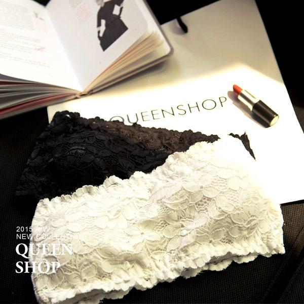 Queen Shop【01041048】布蕾絲平口胸墊小可愛 兩色售*現貨+預購*