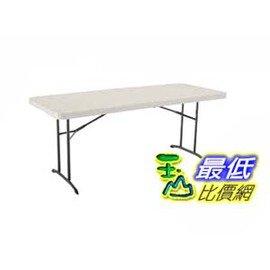 [COSCO代購如果沒搶到鄭重道歉] Lifetime 6呎折疊桌 Lifetime Fold-In-Half Table _W726351