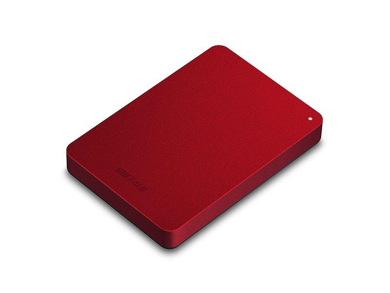 ★綠G能★全新★ BUFFALO HD-PNF1.0U3 1TB 2.5吋防震加密行動硬碟(紅)