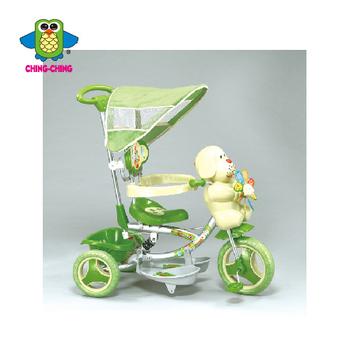 親親 風車小狗三輪車(紅色、綠色) XG3403BPA【德芳保健藥妝】兒童學步車.滑步車.玩具車.助步車