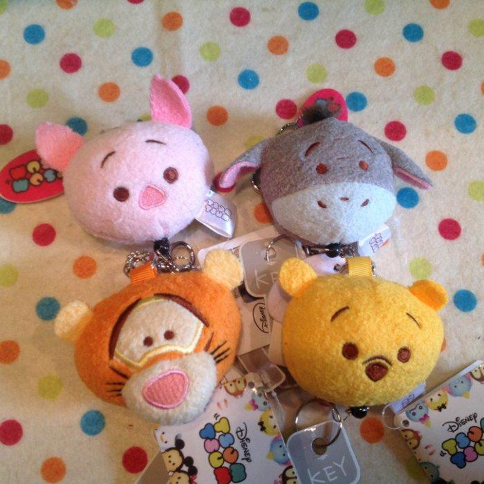 =優生活=迪士尼tsum tsum維尼家族 小豬 屹爾 跳挑虎多功能自動伸縮鑰匙扣 鑰匙圈 吊飾娃娃 識別證