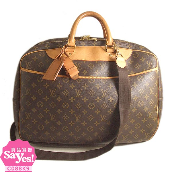 【奢華時尚】LV M41399 經典字紋帆布大珍行李箱旅行袋(八成新)  #19005
