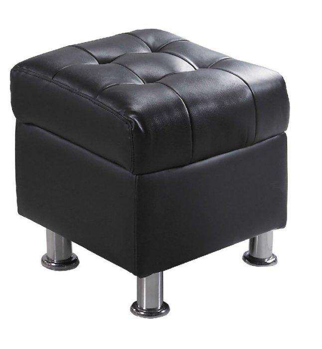 【尚品家具】 JF-181-3 庫倫40深咖啡皮沙發椅凳