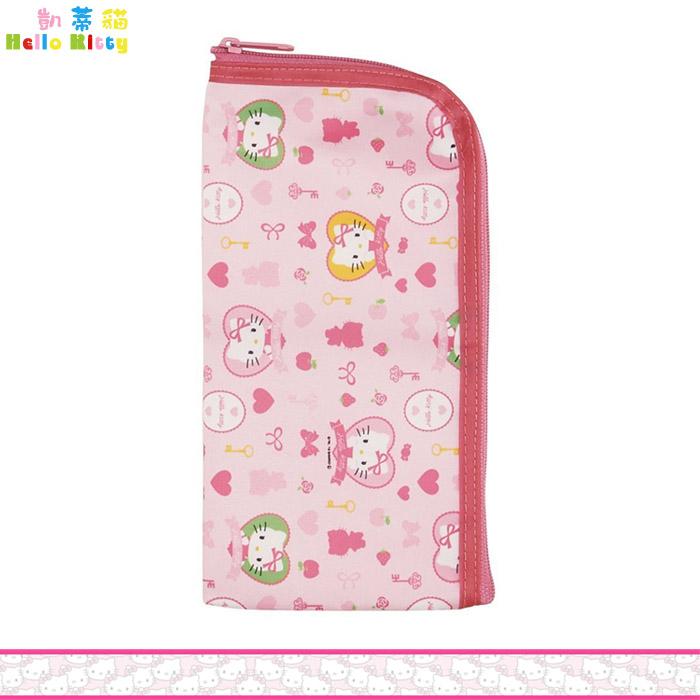 大田倉 日本進口正版 Hello Kitty 凱蒂貓  L型收納袋 輕薄款 三麗鷗  嬰兒餐具包 防潑水  330162