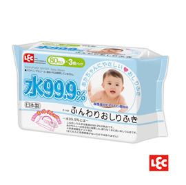 【悅兒樂婦幼用品舘】LEC I-PLUS 純水99.9%日本製濕巾80抽(3入)
