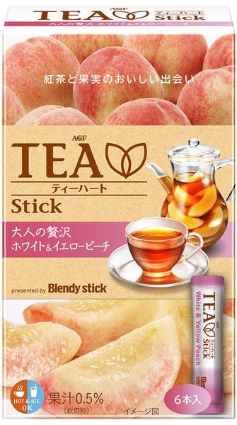 AGF Blendy stick TEA 水果紅茶-白桃&黃桃 6本入