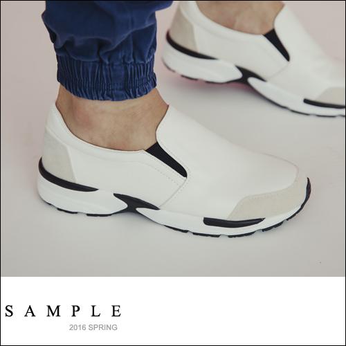韓國製 運動鞋 內增高皮革懶人鞋【SN15918】- SAMPLE