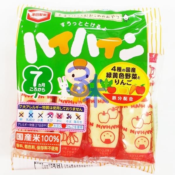 (日本) 龜田製菓 嬰兒野菜米果 1包53公克 特價58元【4901313067130】 內有2枚*16袋 (嬰兒米果野菜味) 還有原味米果 此批效期 20161204
