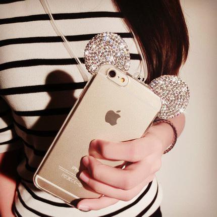 鑲鑽水晶米奇耳朵 iPhone6 手機殼