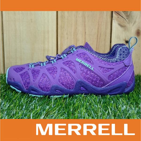 萬特戶外運動 MERRELL AQUATERRA 水陸涼拖鞋 女款 快乾溯溪 兩棲登山健行鞋 抓地大底 紫色