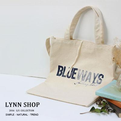 [全店免運,滿700現折$100]   帆布包 多款手提單肩帆布包 -字母BLUEWAY【BA-8032】LYNNSHOP
