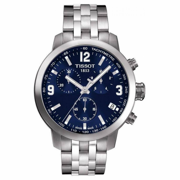 TISSOT天梭T0554171104700 PRC200石英計時腕錶/藍面42mm
