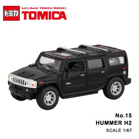 日貨 TOMICA No.15 HUMMER H2 悍馬 真車系列 汽車模型 多美小汽車【N201328】