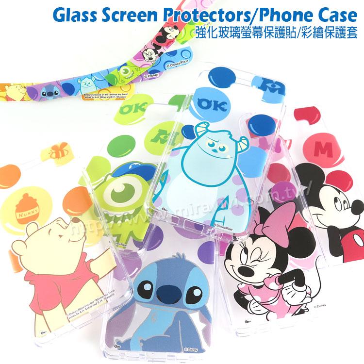 【Disney 】Samsung Galaxy Note 5 泡泡系列玻璃保護貼+彩繪保護軟套