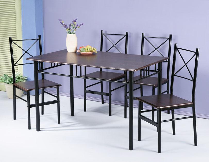 加大尺寸餐桌椅組(一桌四椅) 書桌椅 會議桌椅 台灣製【馥葉】型號DS1275