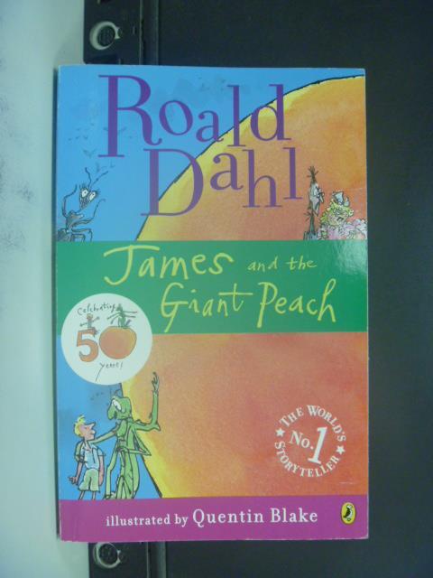 【書寶二手書T1/原文小說_GOW】James and the Giant Peach_Dahl