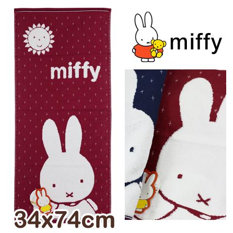 純棉紗布毛巾 十字米飛兔款 miffy