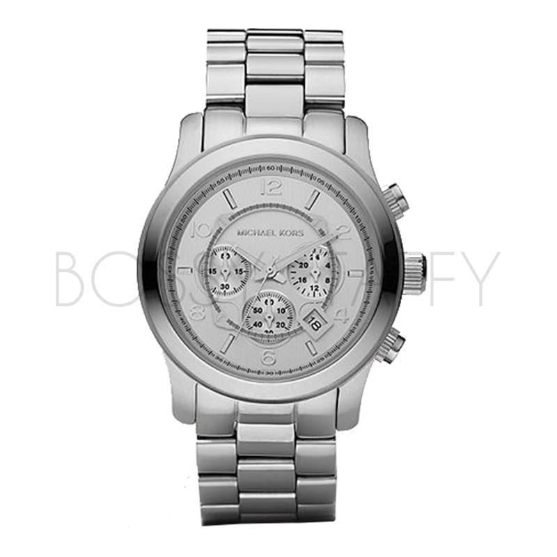 MK8086 MICHAEL KORS 時尚三眼時針不銹鋼中性錶 手錶