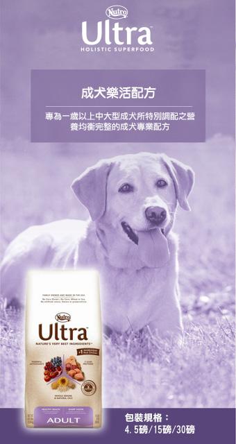 ★優逗★Nutro 美士 大地極品 成犬 樂活配方 4.5LB/4.5磅