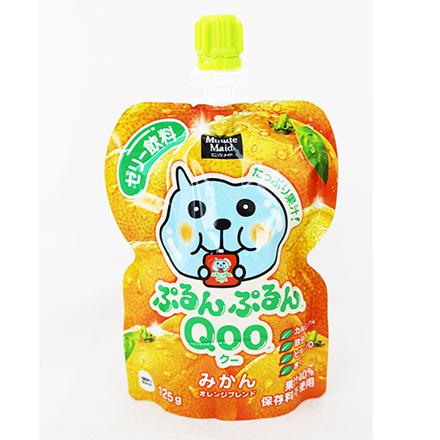 [敵富朗超市]Qoo果凍飲便利包-橘子(賞味期限2016.12.18)