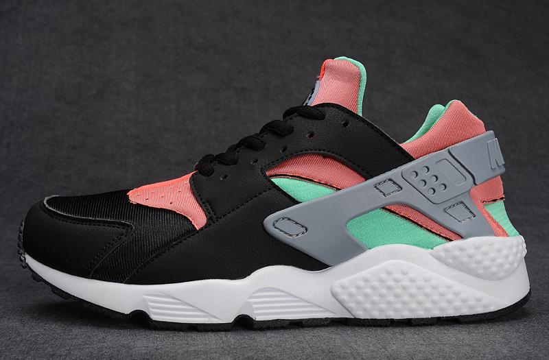 Nike Air Huarache  黑桔紅綠 女鞋US7