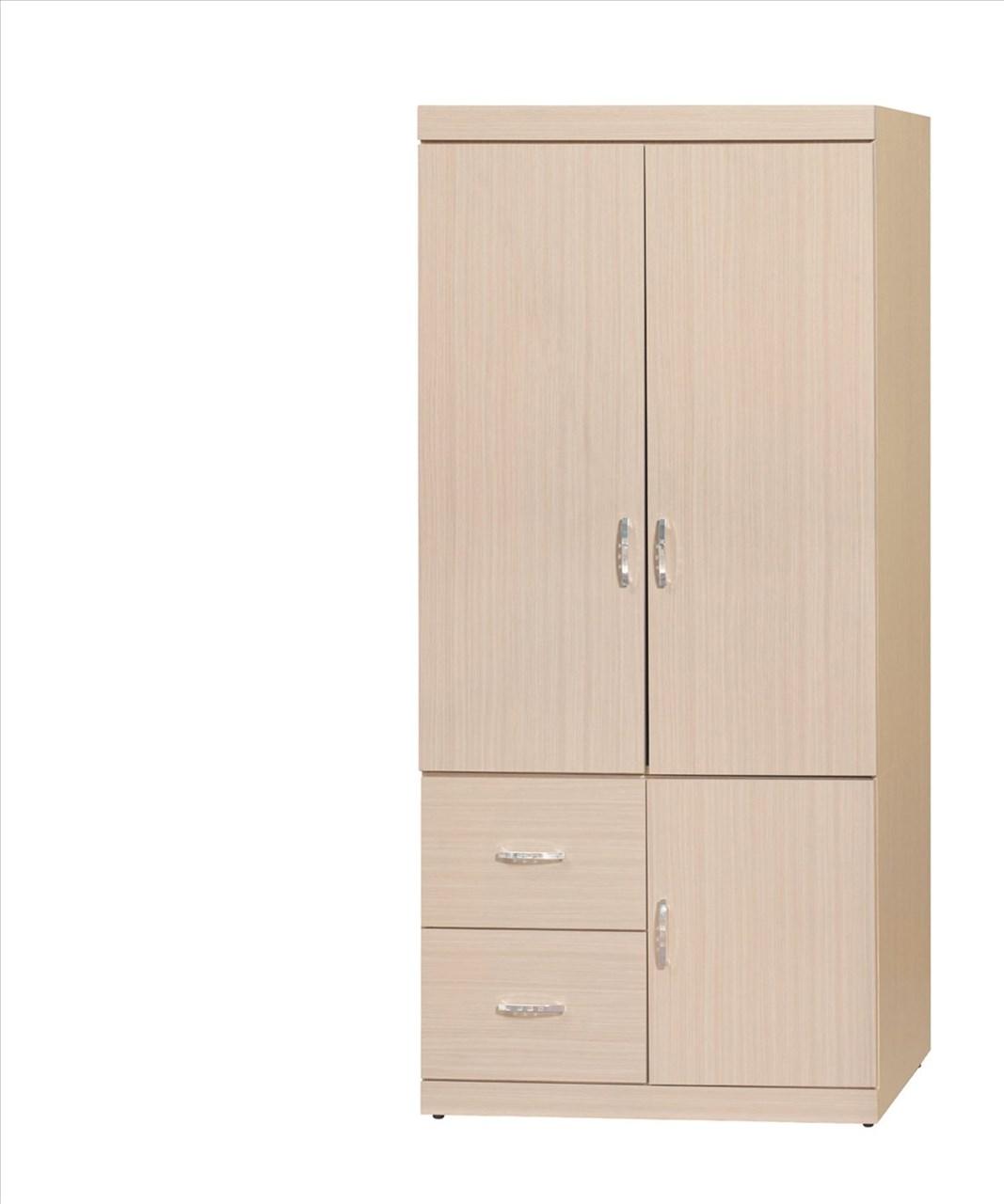【石川家居】EF-138-1 立德白橡3*6尺衣櫥 (不含其他商品) 需搭配車趟