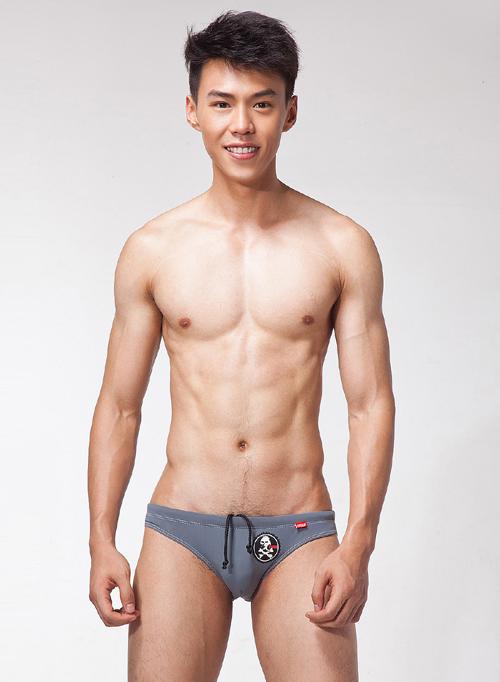 [漫朵拉情趣用品]【LOOCH】灰色印花三角泳褲(XL) DM-9263430