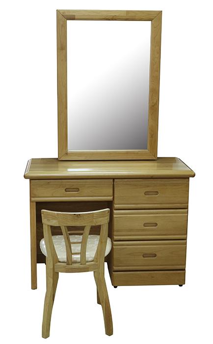 【尚品傢俱】659-01 正赤楊實木推鏡鏡台化妝台(含椅)~台灣製造