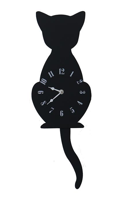 【尚品傢俱】※自運價※ Q-414-16 黑貓造型鐘/造型時計/壁掛鐘/藝術飾鐘/美術時刻鐘/時鐘/Clock