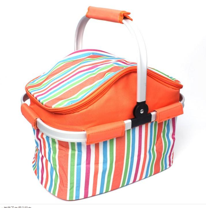 【20L大容量】NG品戶外野餐包野餐籃燒烤包保溫籃折疊保溫包車載食品保鮮冰包
