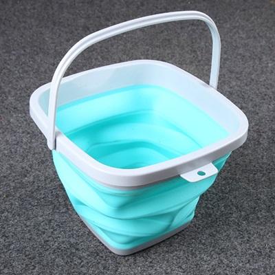 摺疊水桶(5公升)-加厚便攜釣魚餌料可洗車用2色73pp93【獨家進口】【米蘭精品】